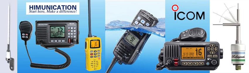 Unser Marine Lieferprogramm mit Funkgeräte, Antennen und Zubehör